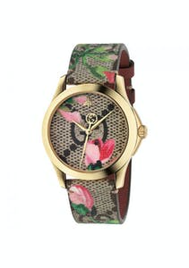 02386fef870 Gucci - YA1264038  G-Timeless Pink Blooms Print Dial Ladies Watch