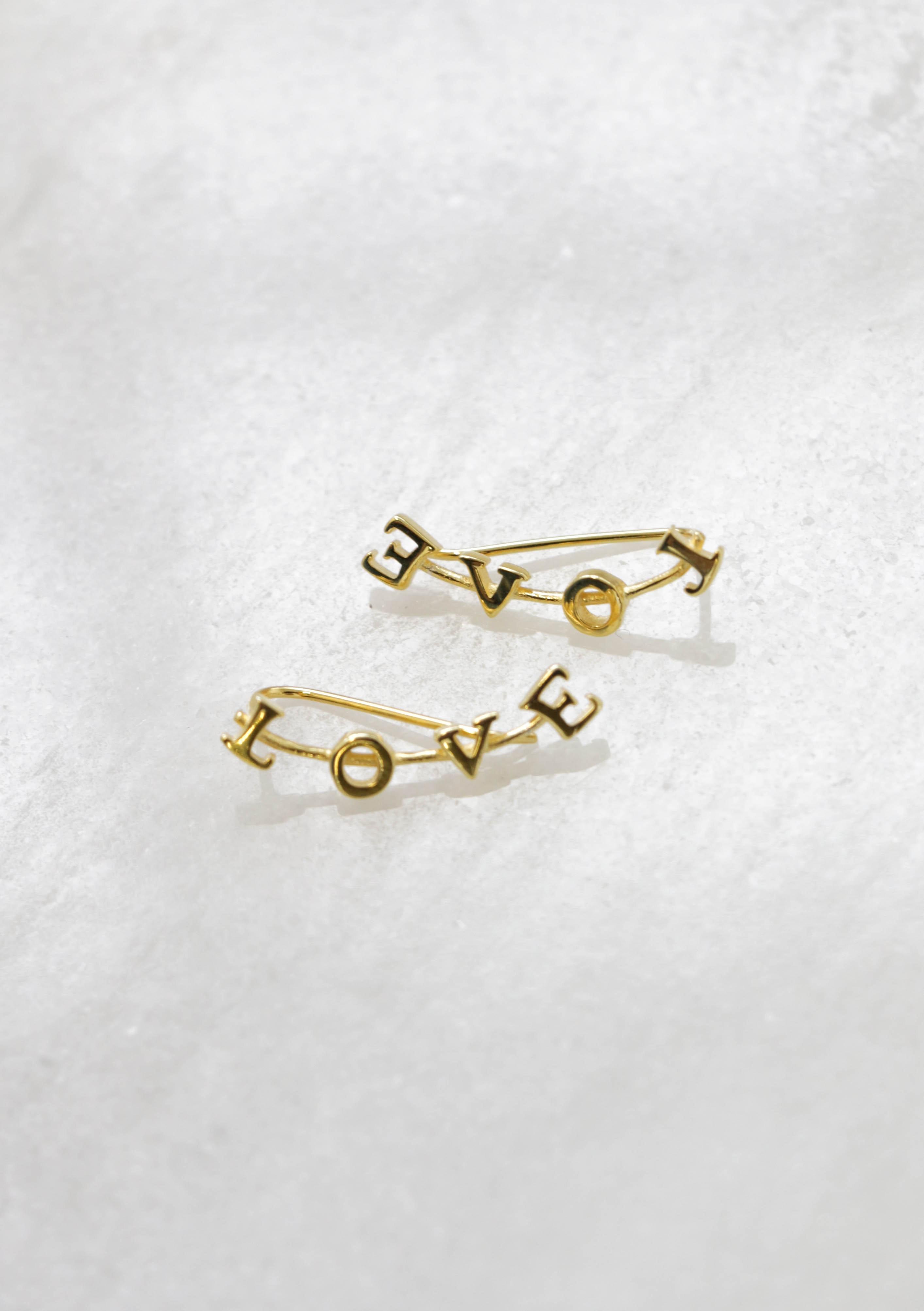 Love earrings gold - Gold