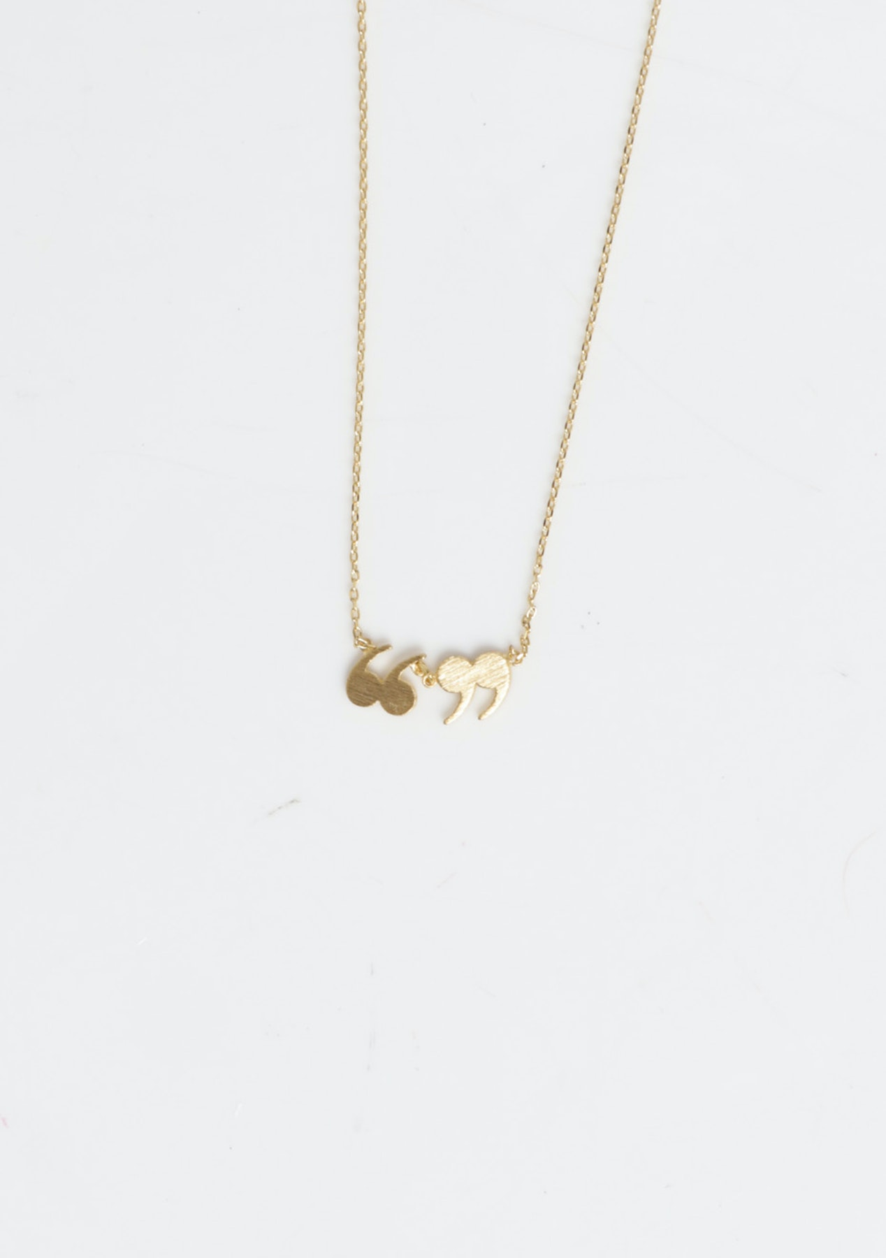 Necklace Gold Speech Marks