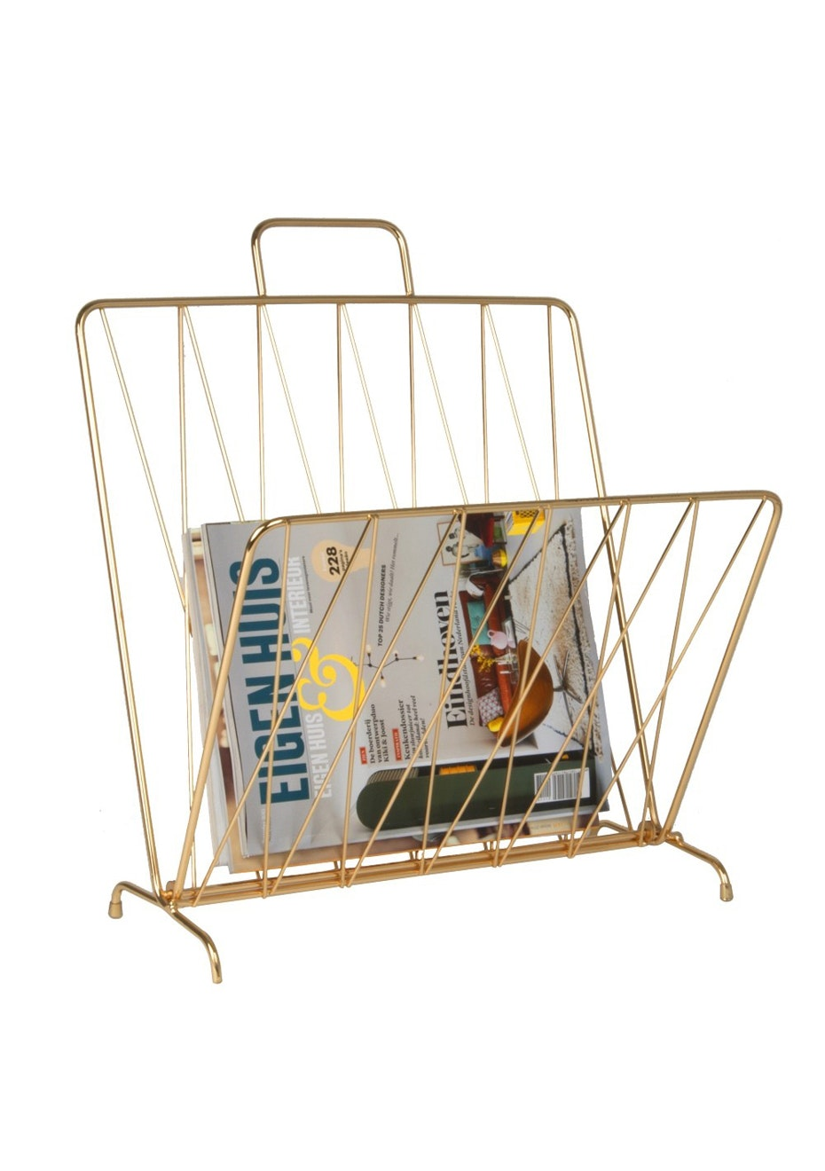 Pt Home - Magazine Rack 'Diamond Raster' - Gold