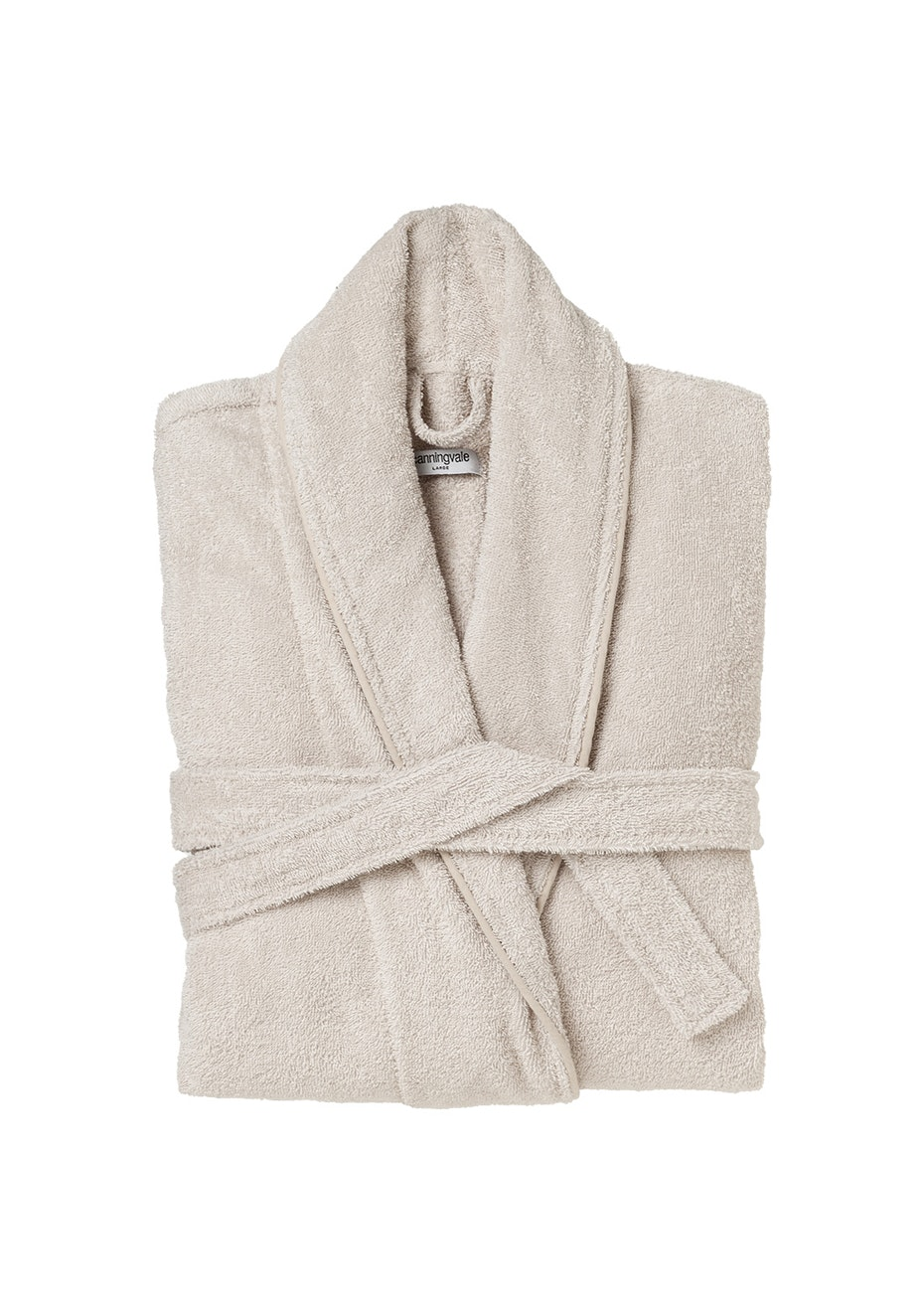 Large Classic Cotton Terry Bathrobe - Natural.