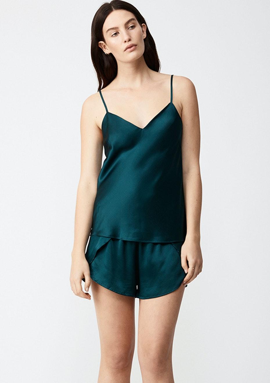 NATALIJA - Silk Camisole - Emerald