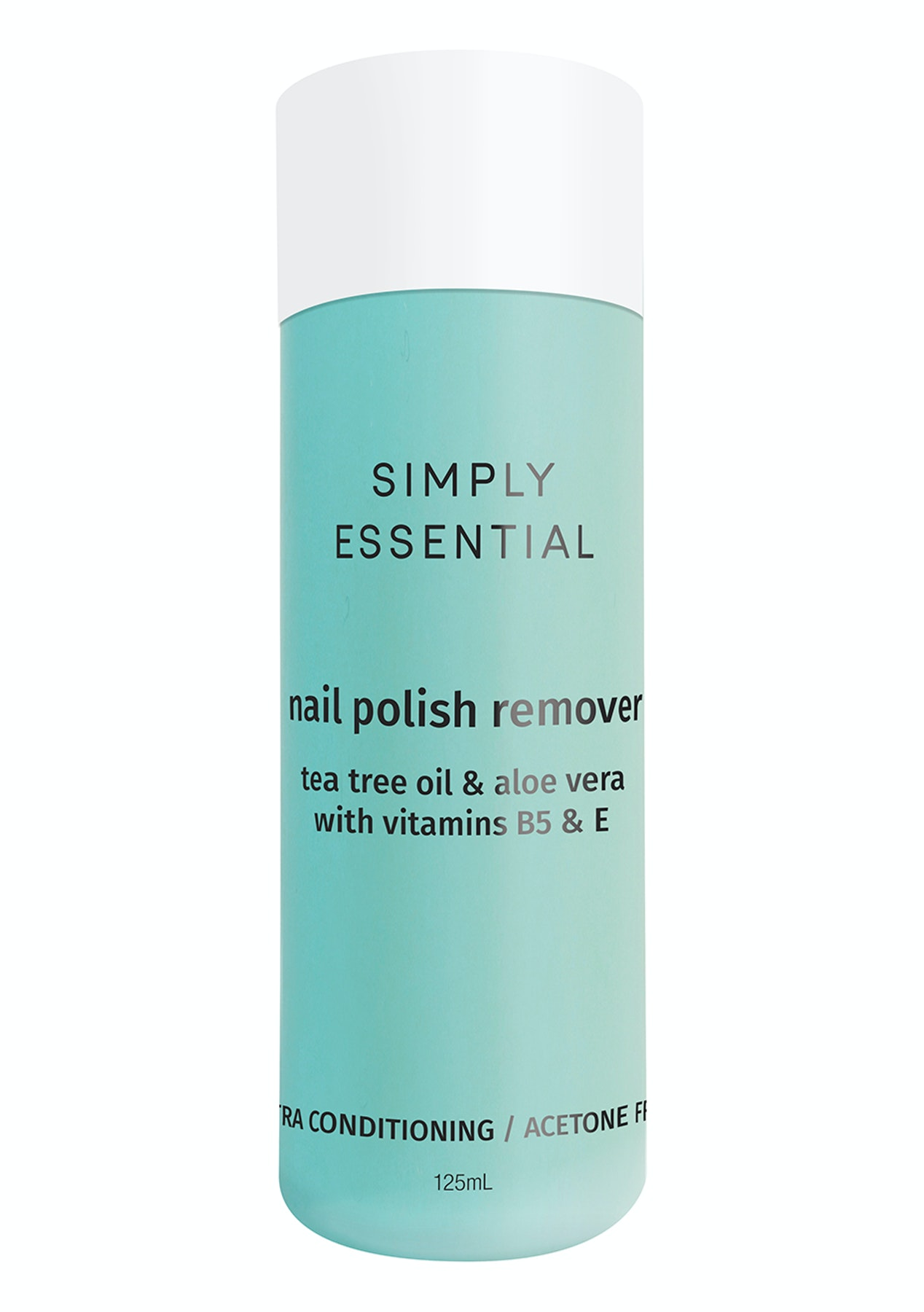 Simply Essentials - Nail Polish Remover- Green Extra Conditioning (acetone  free) 125ml