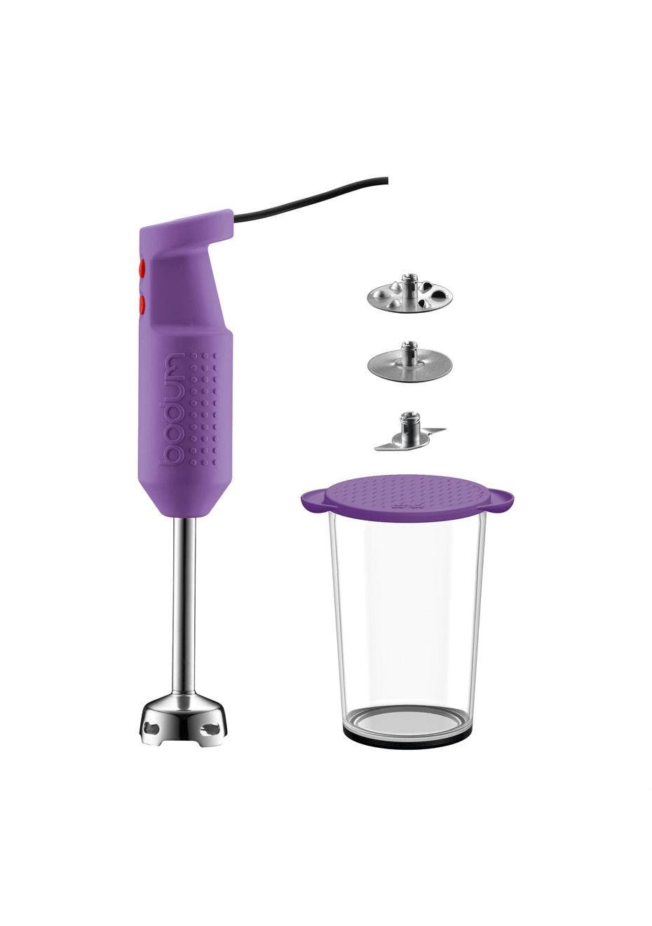 Bodum - Electric Blender Stick With Accessories - Purple
