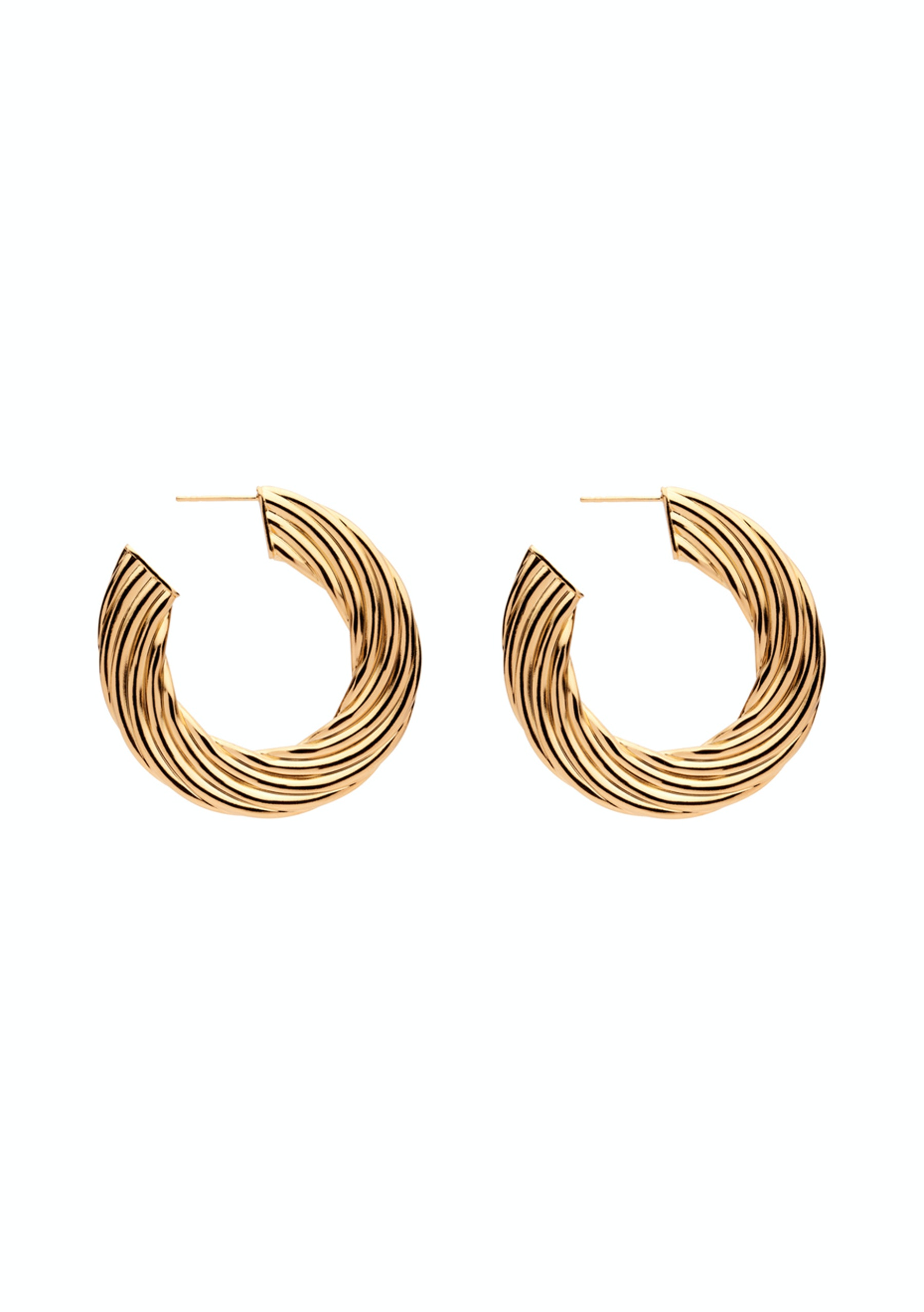 Amber Sceats Bec Gold Earrings Made In Italy Mega Designer