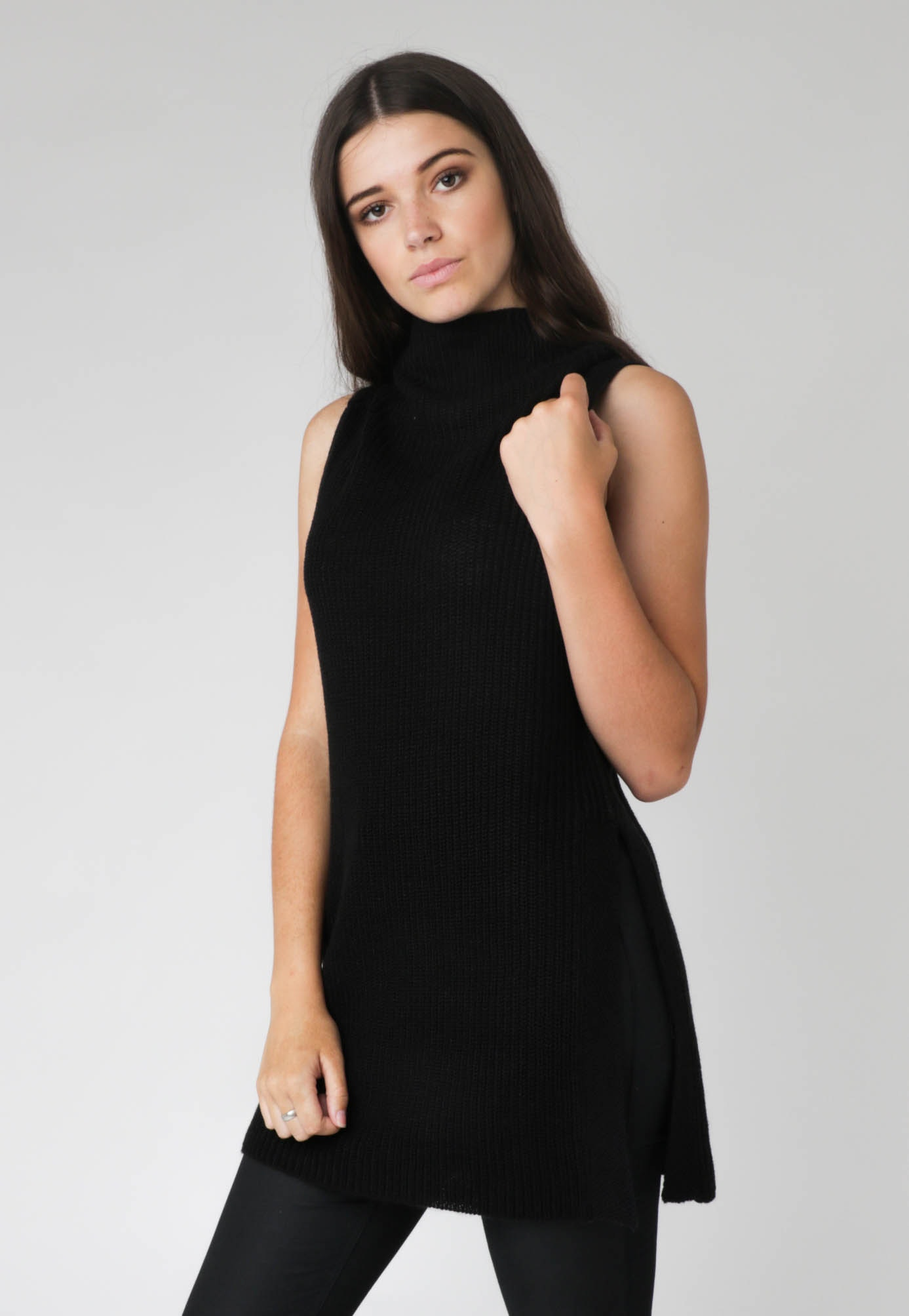 All About Eve - Balmy Nights Sleevless Knit - Black