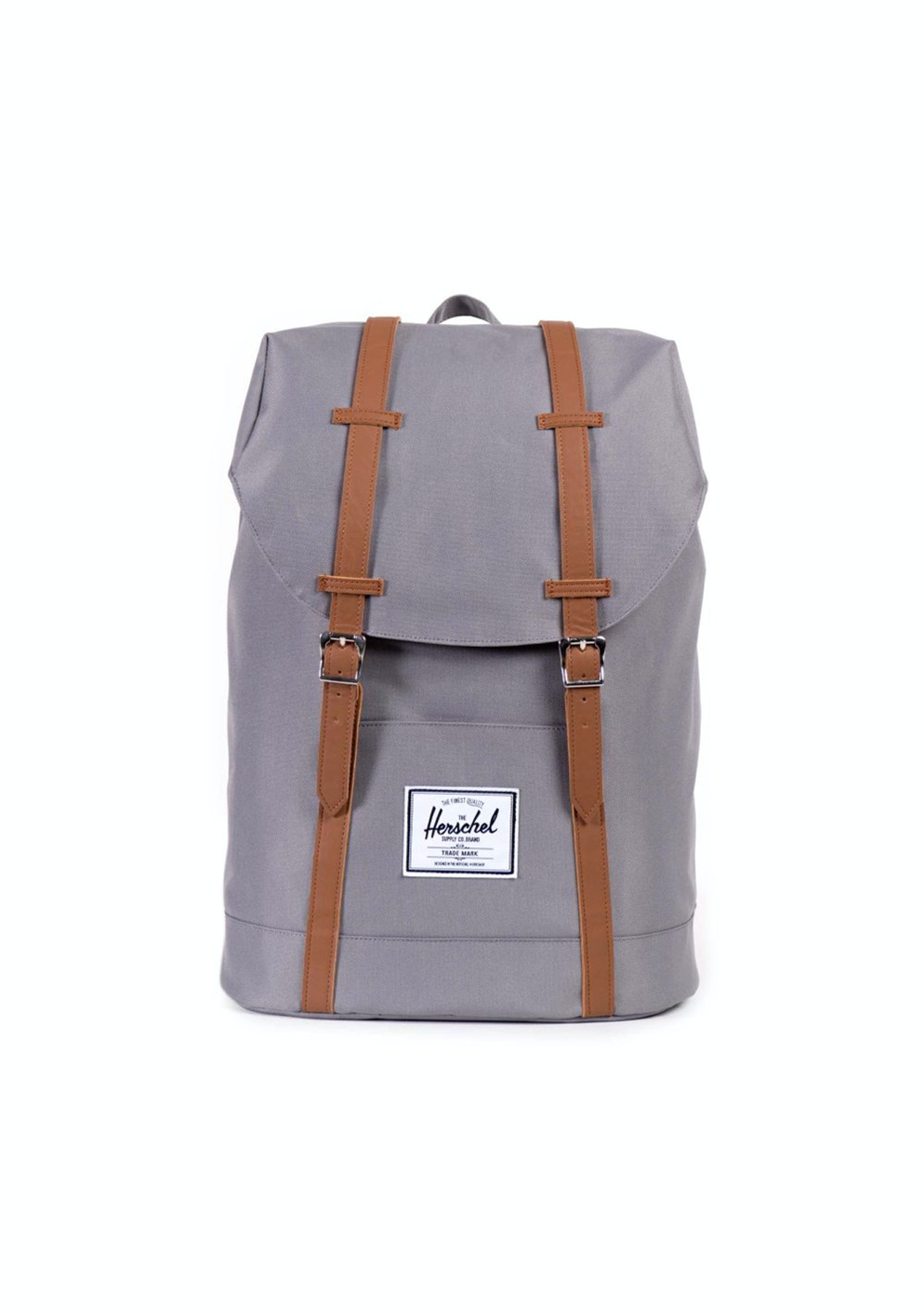 Herschel - Retreat Backpack - Grey Tan Synthetic Leather - Back Pack  Clearance - Onceit 65320fe475a82