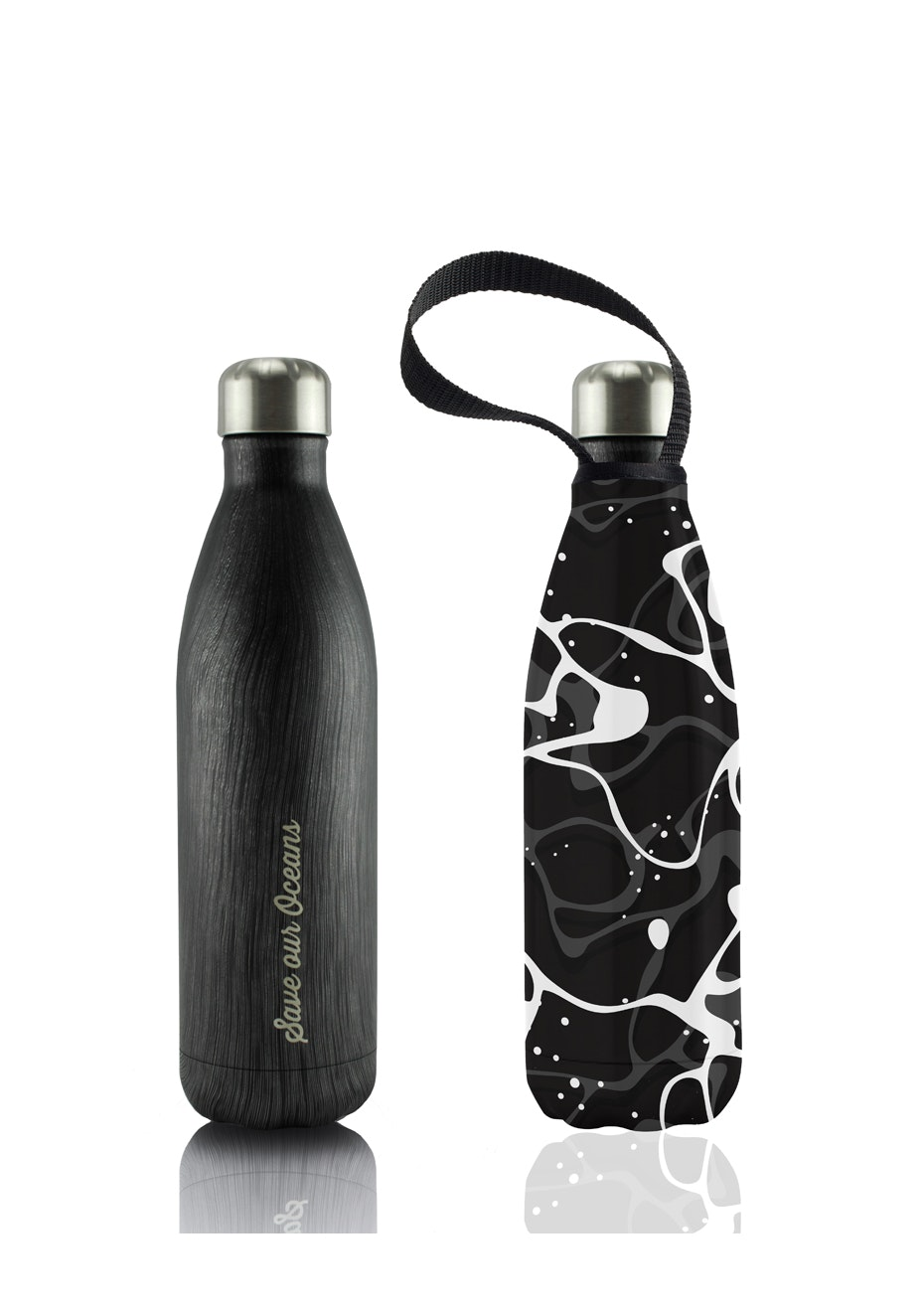BBBYO - Future Bottle+ Carry Cover  (Pool Print) - 750 ml Black Wood