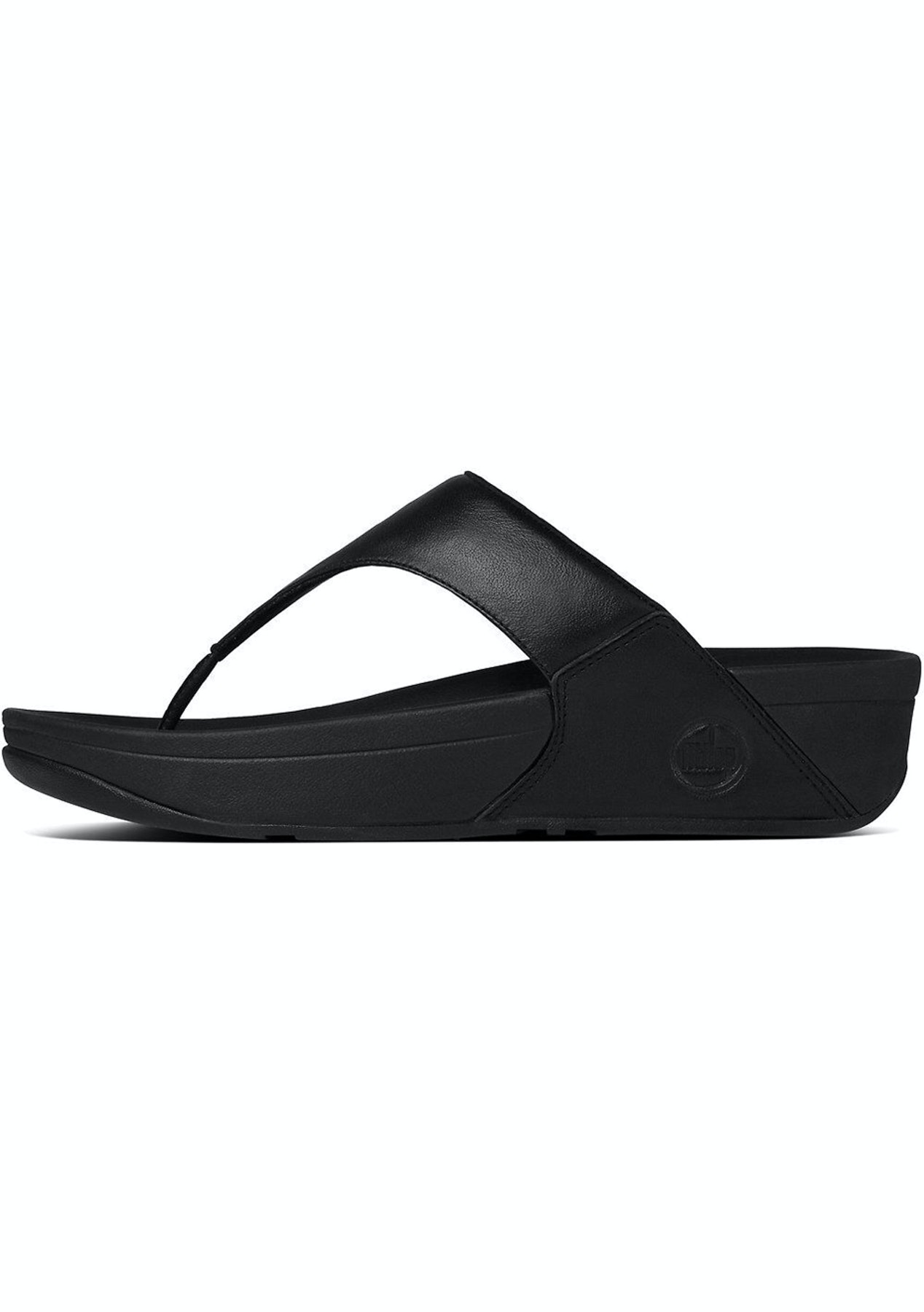 6da4f8c5ce5455 Fit Flop - Lulu Leather Toepost -Black - Fit Flop   More - Onceit