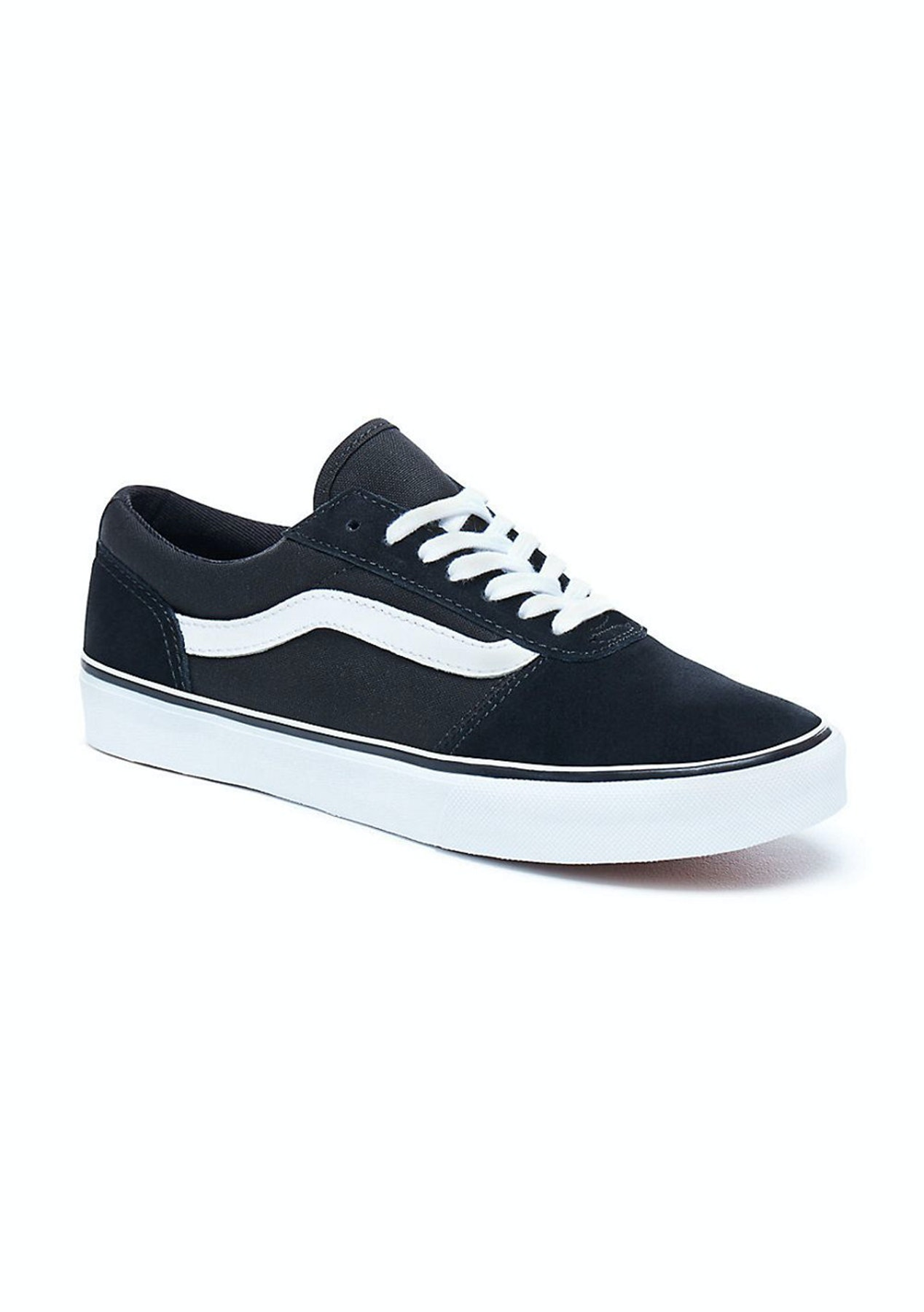 5c8a54626344 Vans - Womens Maddie - Canvas - Black White - Vans for The Family - Onceit