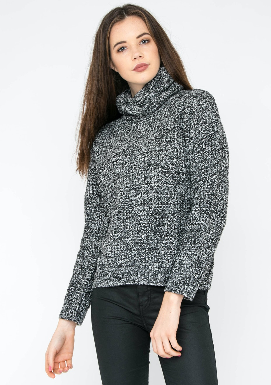 MINKPINK - Static Waffle Sweater - Black/White