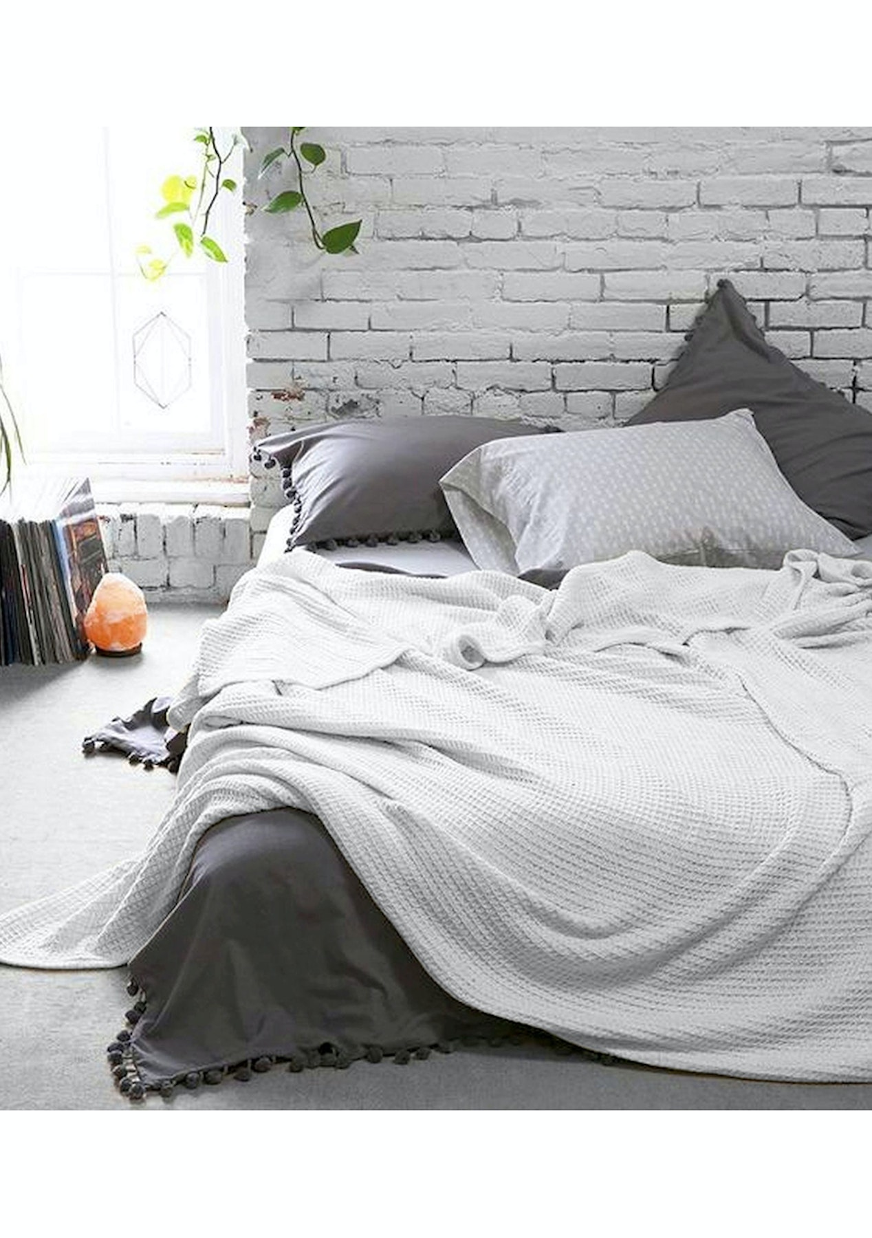 b1a4d0e19c Style   Co 100 % Cotton Waffle Blankets 160 x 220 - White - Under  100  Vintage Wash Bedding - Onceit