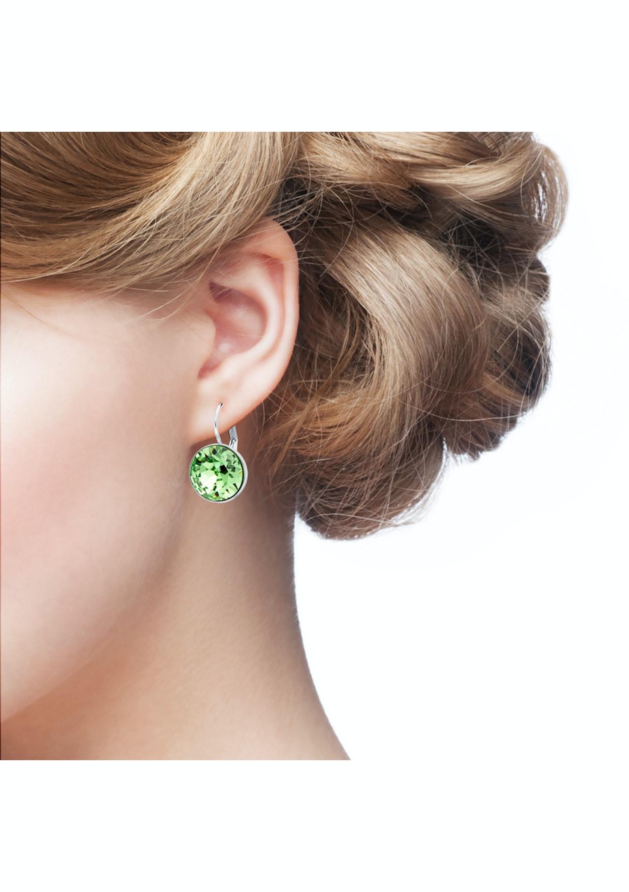 b9271aac4d2a Krystal Cotoure - Bella Drop Earrings with Peridot Swarovski Crystals  Bridal Wedding WGP MYJS - My Jewellery Store Swarovski Elements Jewellery  Under  40 - ...