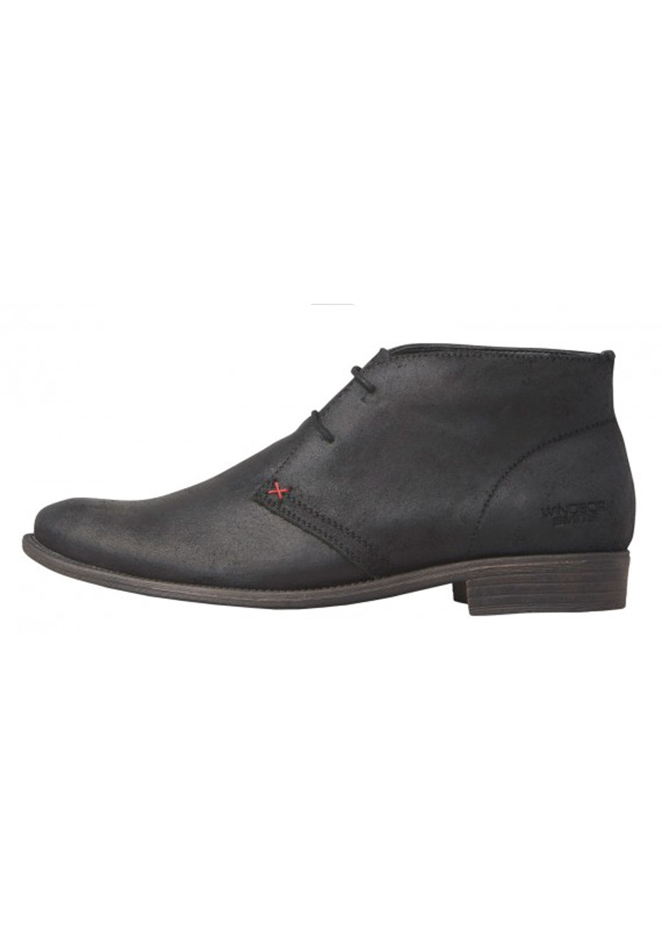 Windsor Smith - Harvard - Black Oil Suede