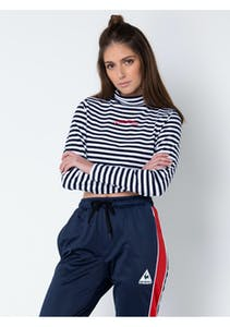 2cf01b0eb3f8a Le Coq Sportif - Womens Doillon Long Sleeve Top - Navy Stripe