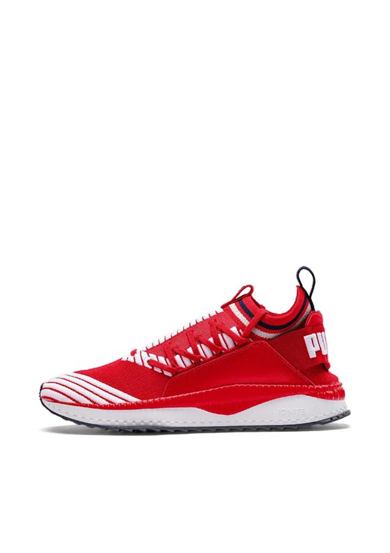 70d7f7880a9 Puma - Mens Tsugi Jun Sport Stripes - Red White - Puma Refresh - Onceit