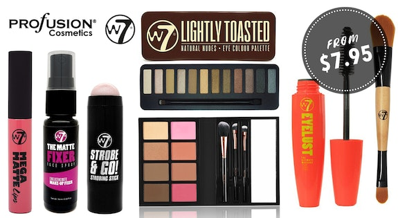 W7 & Profusion Cosmetics From $7.95
