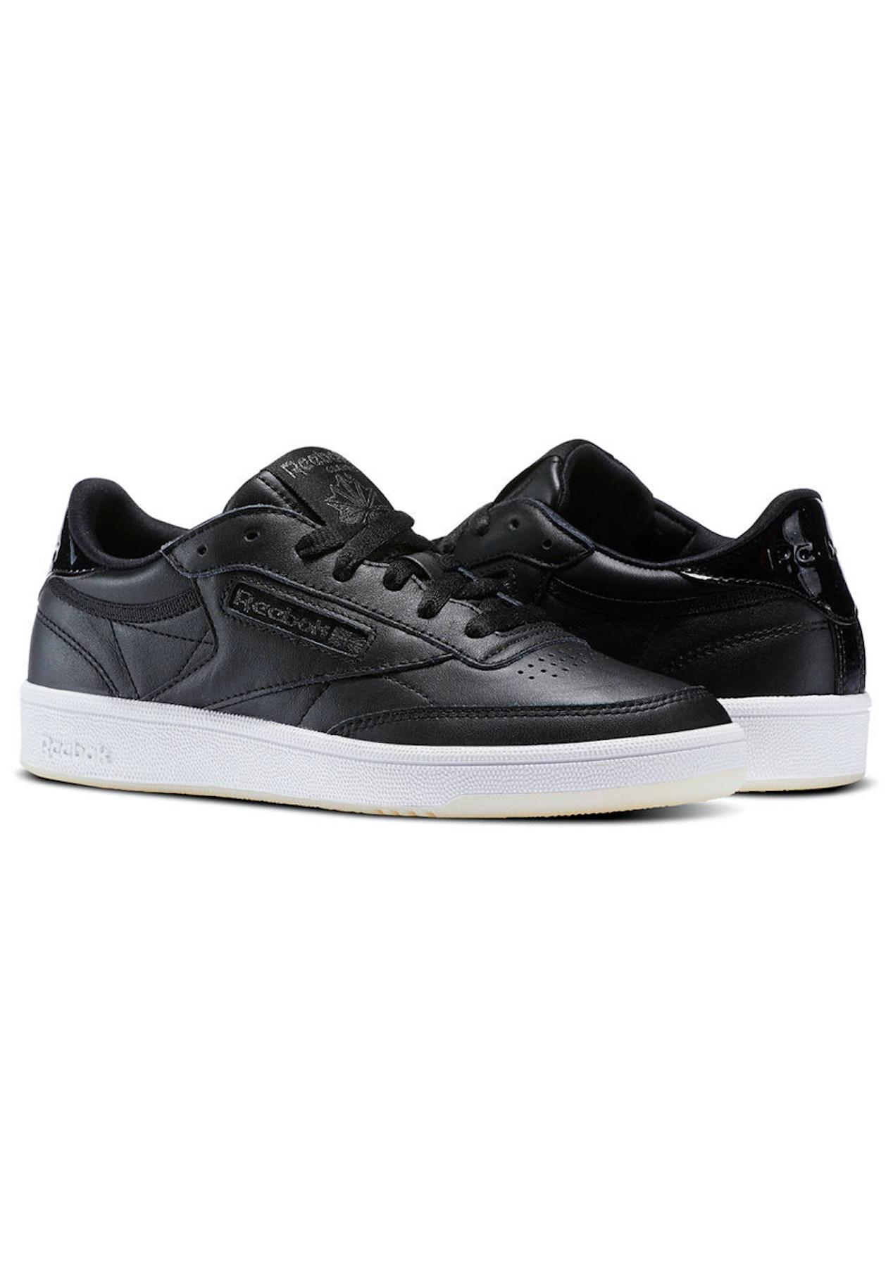 9436e7b43b8 Reebok Womens - Club C 85 Leather Black White Ice - Shoe Rummage Rack -  Onceit