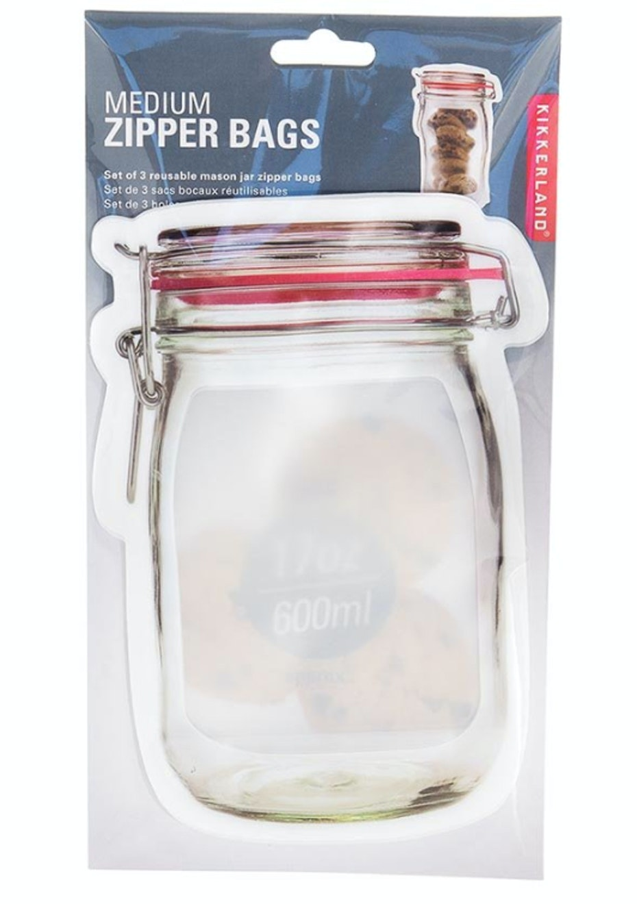 Zipper Bags - Medium - Set of 3