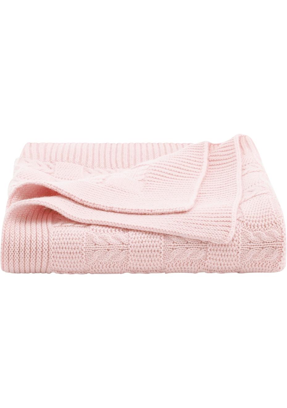 Sheridan - Callaghan - Wool Blend Pram Blanket 75cm x 100cm - Pink