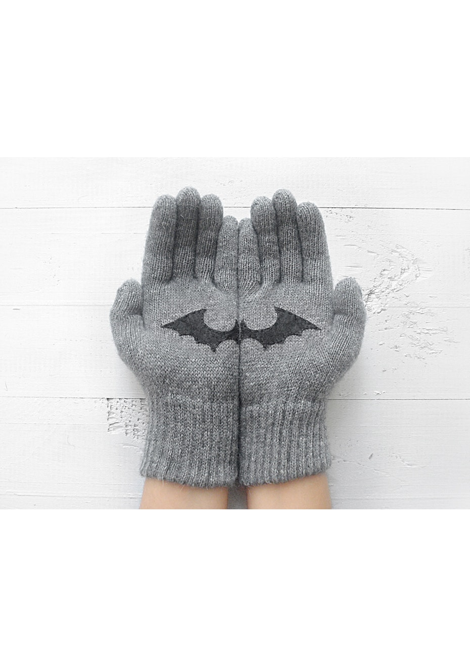 Bat Gloves - Grey/Black