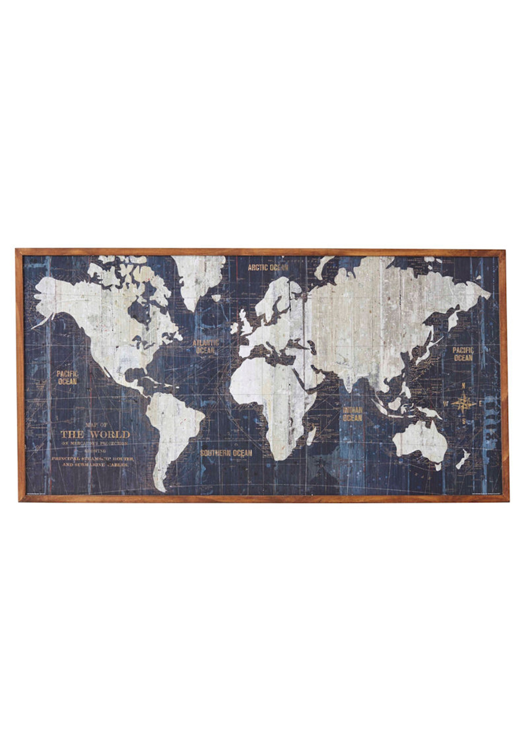 Roaming World Map Wall Decor Framed Art Canvas Prints More Onceit