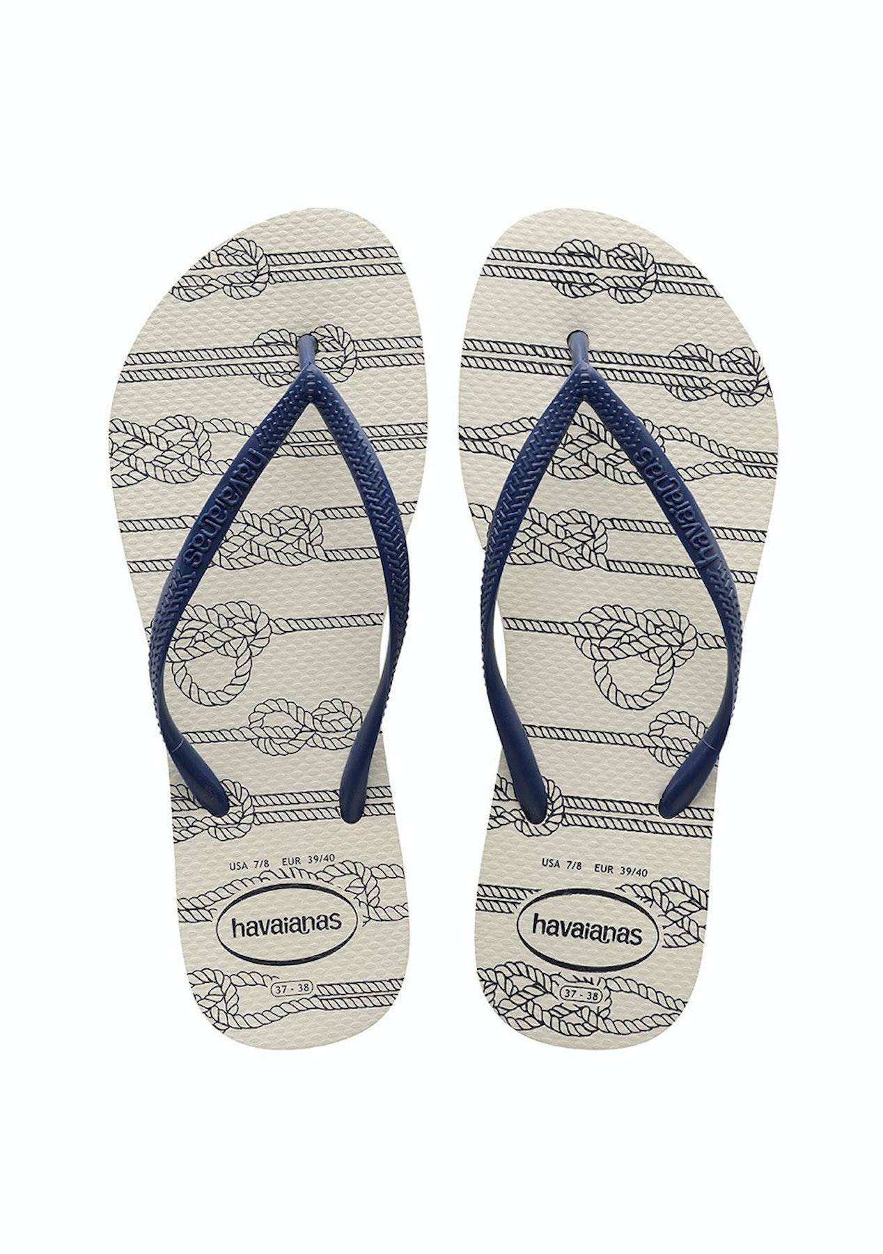 brand new fantastic savings new styles Havaianas - Slim Nautical 0001 - White - Summer Slides and ...