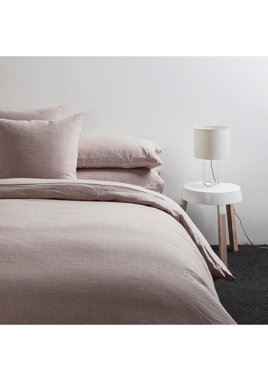 Citta - Sove Linen Duvet Cover - Queen - Oyster
