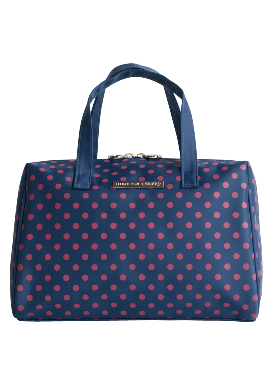 TL+C - Blue Jewel Bowling Bag - Navy/Pink