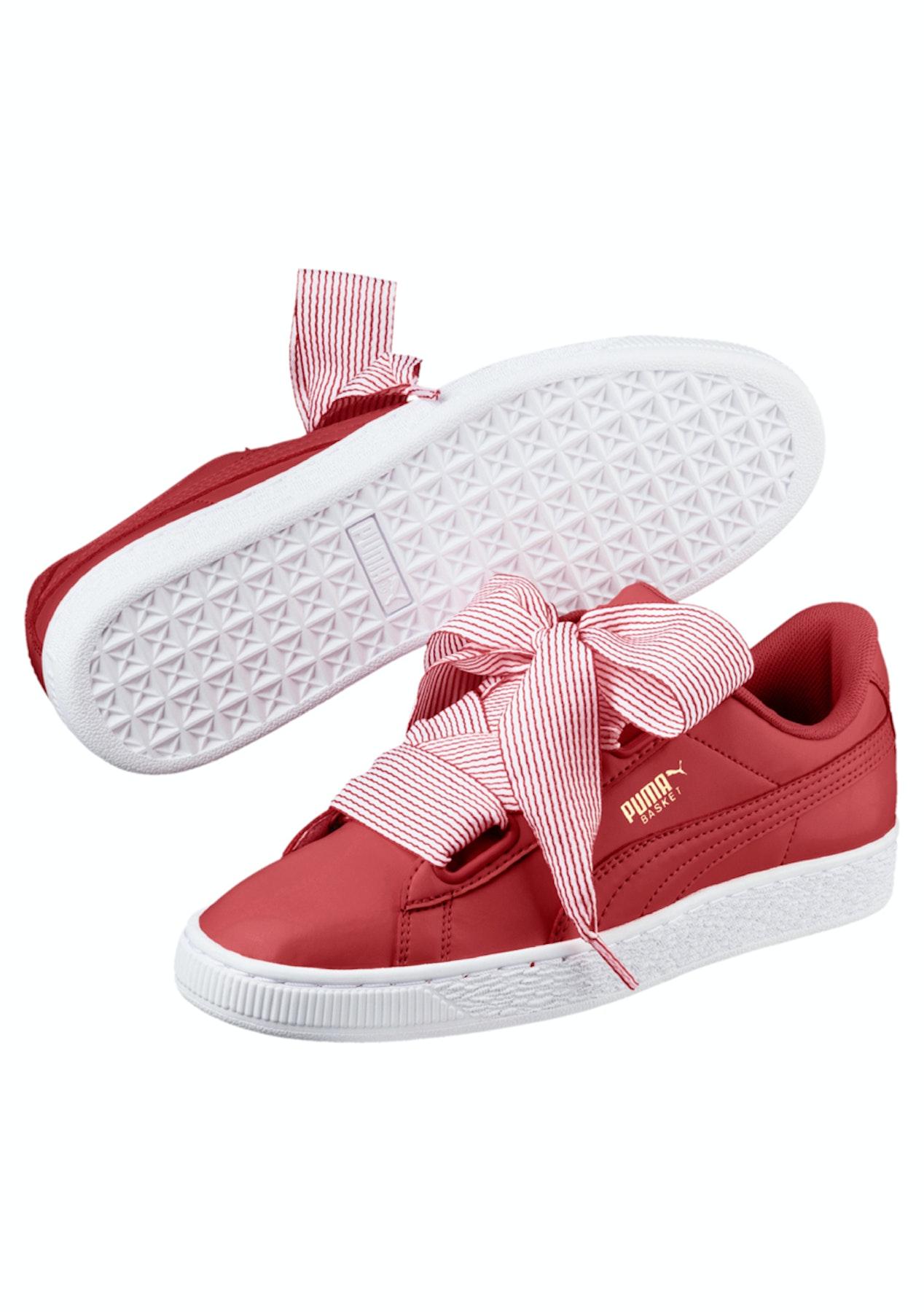 best website 2a1fa 3c1ff Puma Womens - Basket Heart - Shell-Pink