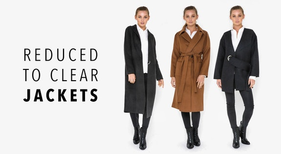 Image of the 'Reduced to Clear: Jackets' sale