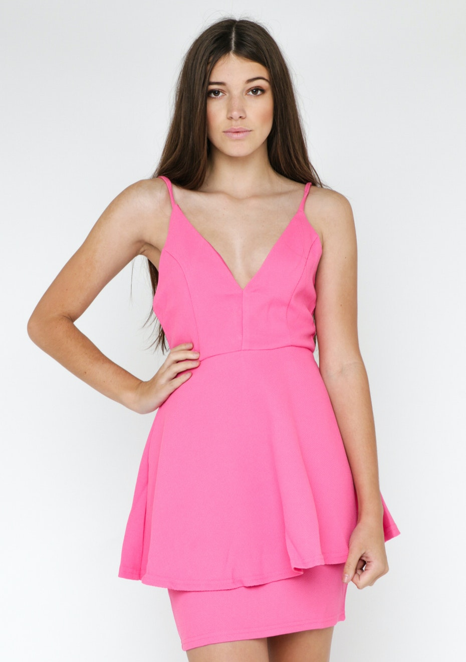 Lioness Piper Party Plunge Dress  - Pink