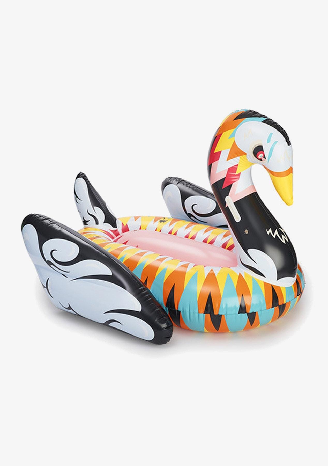 Boho Swan Inflatable - Black Multi