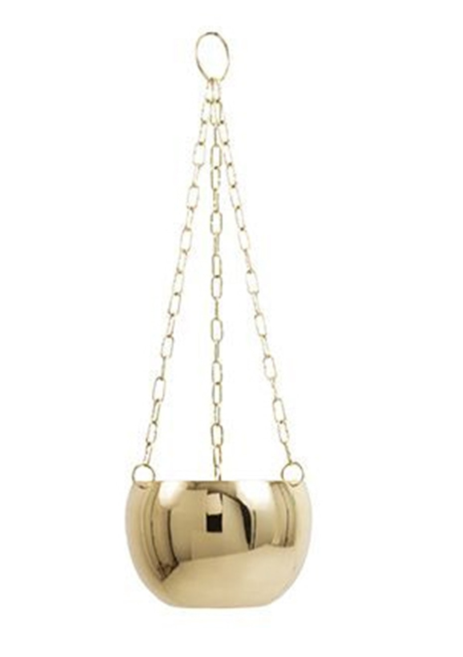 General Eclectic - Hanging Planter Small Brass