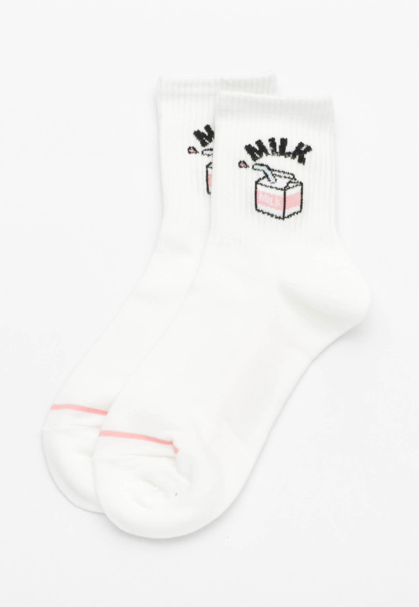 Milk Socks - White
