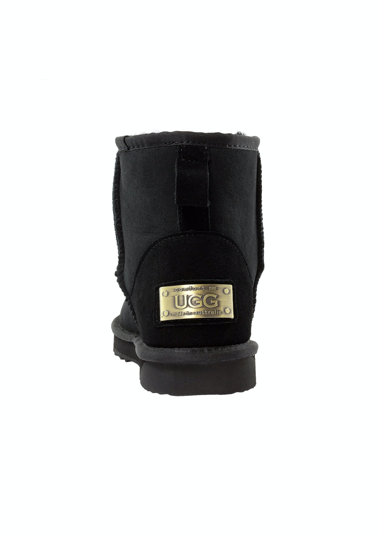 wholesale dealer 14033 ed1ad Ultra Short Classic Black- Ugg Boots Sheepskin Made In Australia - Comfort  Me - Unisex Size 4-13