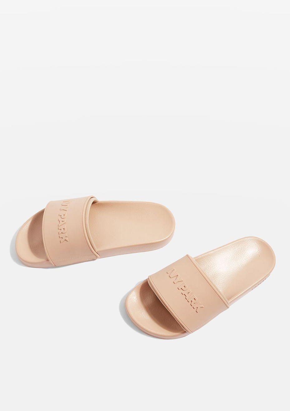 Ivy Park - Neo Lined Embossed Logo Slides - Dusty Pink - Ivy Park - Onceit