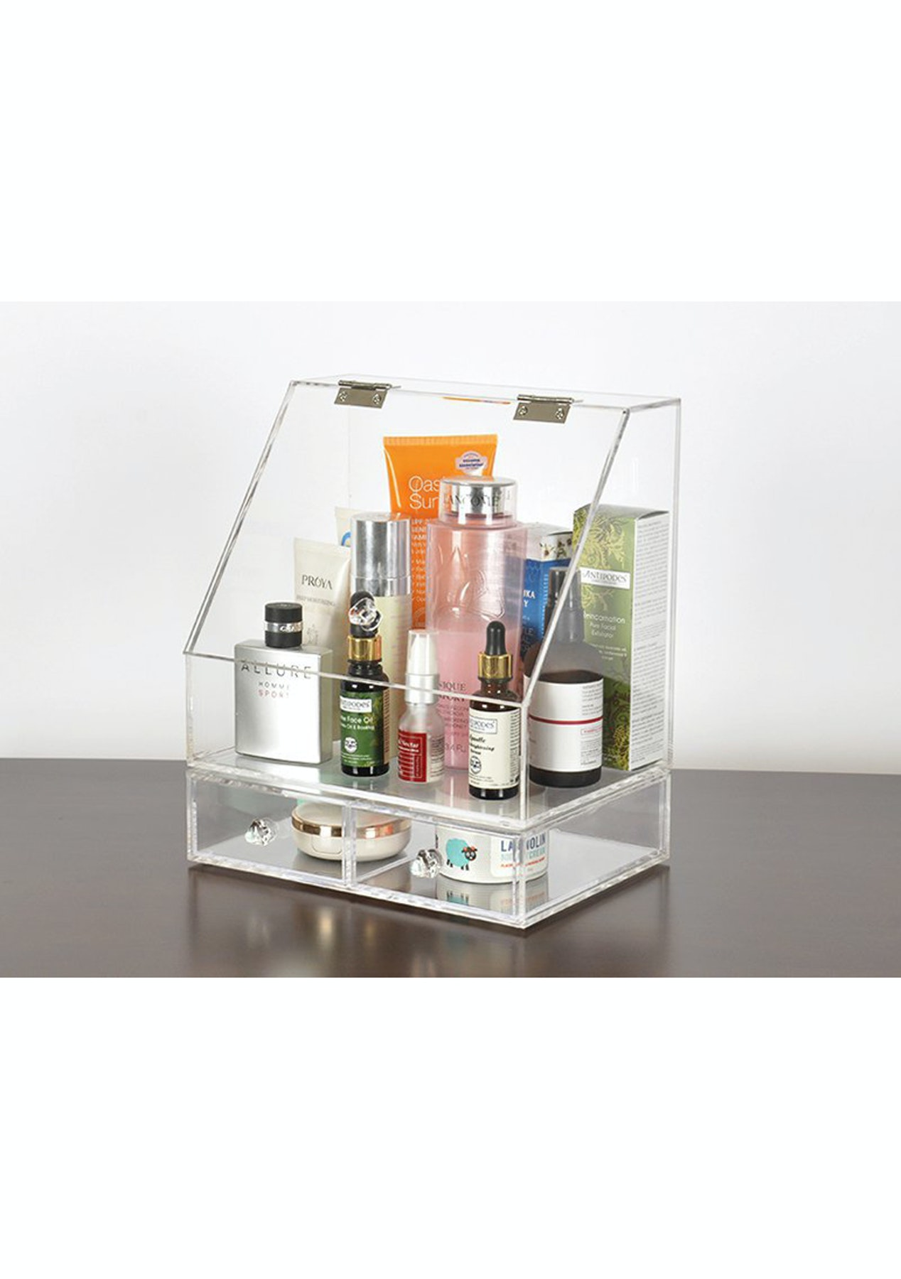 Clamshell Make Up Organiser Cosmetics Storage Box  Cosmetic & Beauty