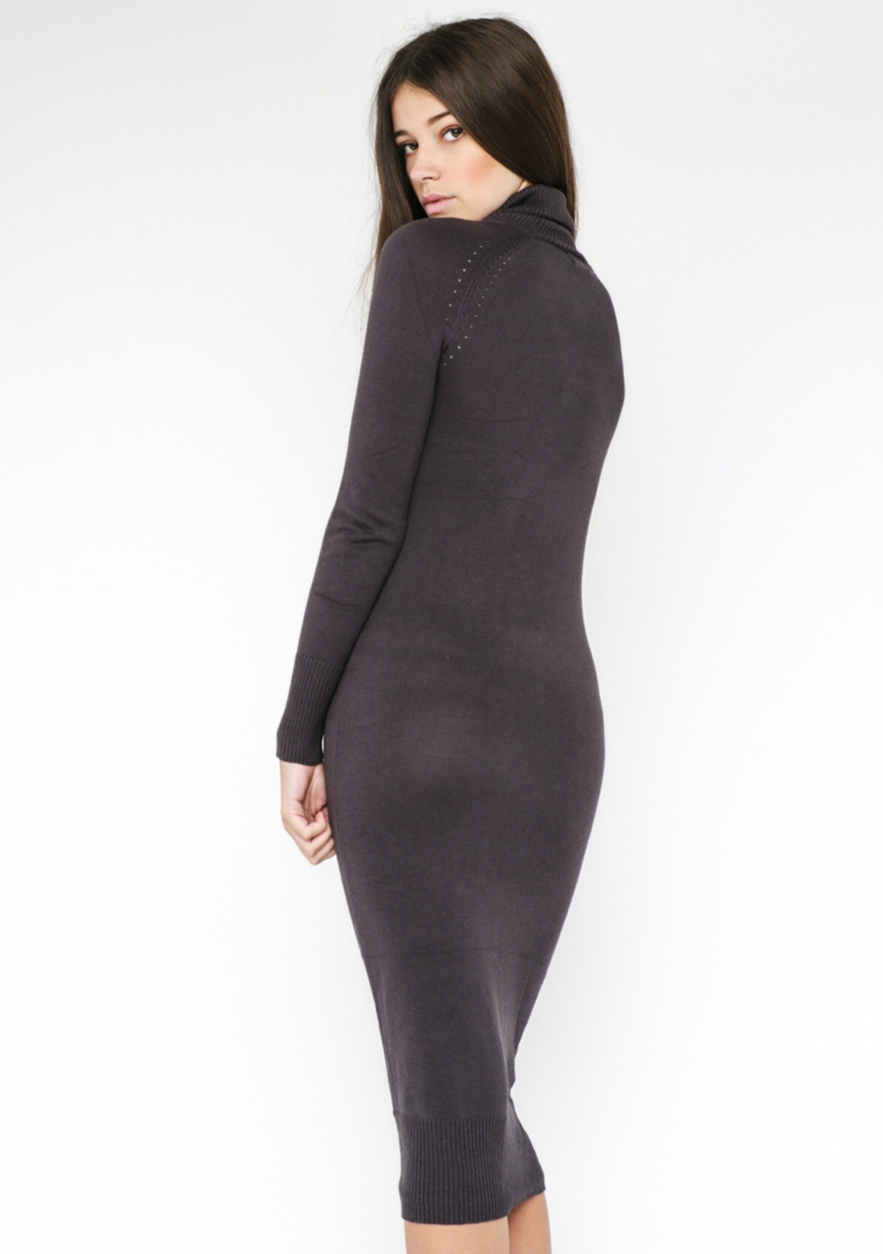 6730c45b3e Lioness Monaco Turtleneck Dress - Charcoal - Everything  25 and Under -  Onceit