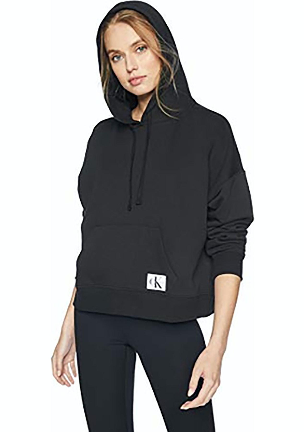 8f2d7260e0778 Calvin Klein Monogram L/S Hoodie Black - Calvin Klein Womens Clearance +  More - Onceit