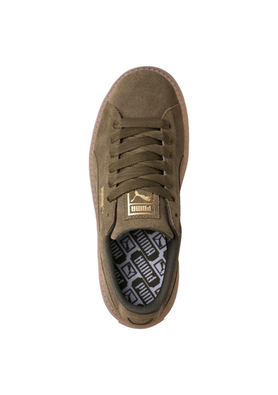 Street Womens Olive Suede Onceit Puma Trace Shoes Platform qZUwgT6X
