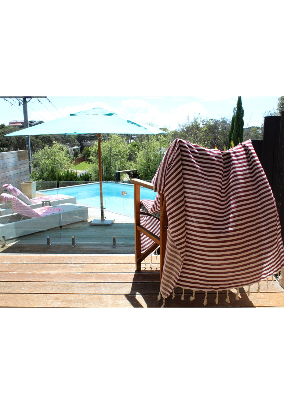 Mediterranean Burgundy Turkish Towel