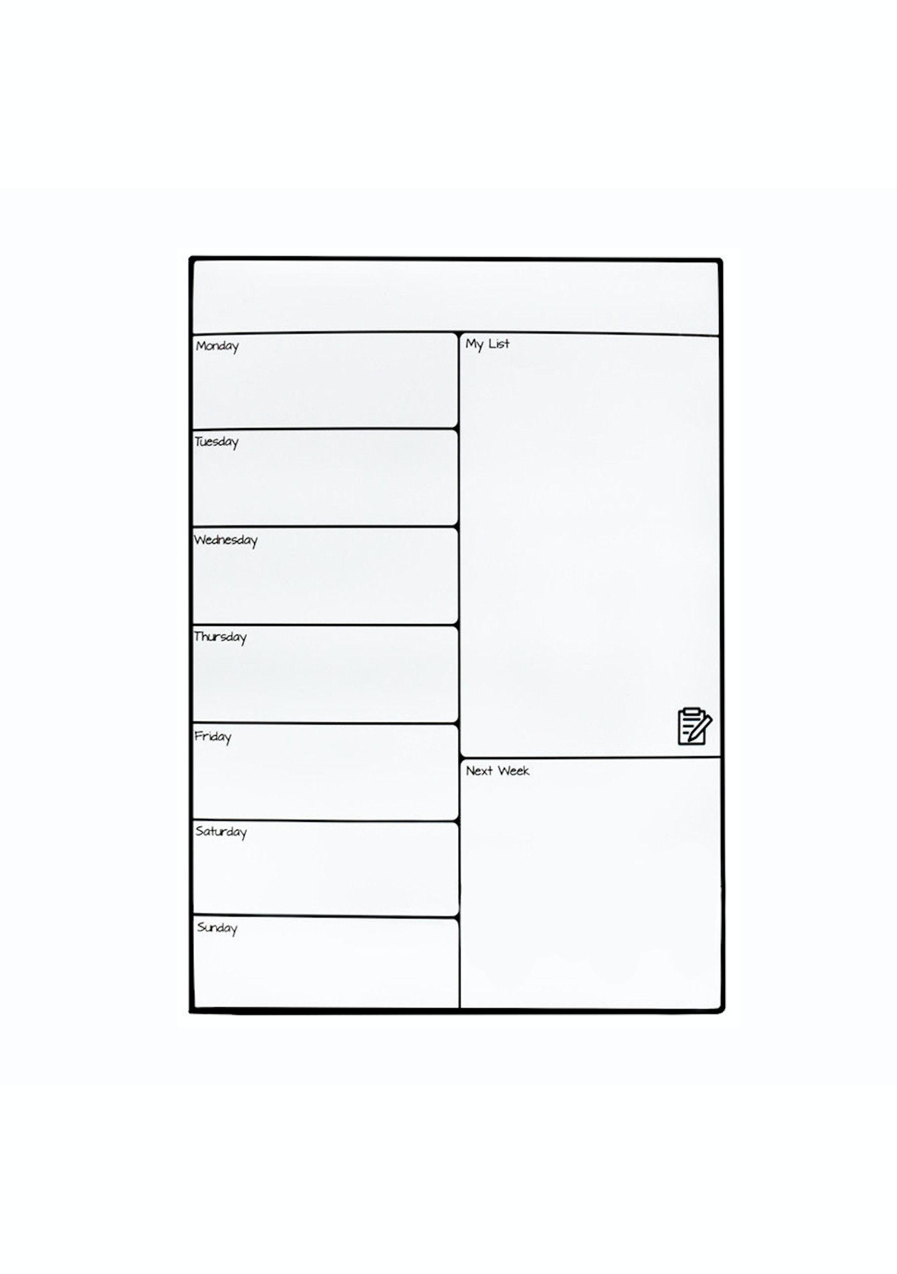 Magnetic Dry Erase Calendar Weekly Board For Fridge Under 20 Home