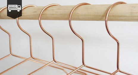 Image of the 'Copper Coat Hangers' sale