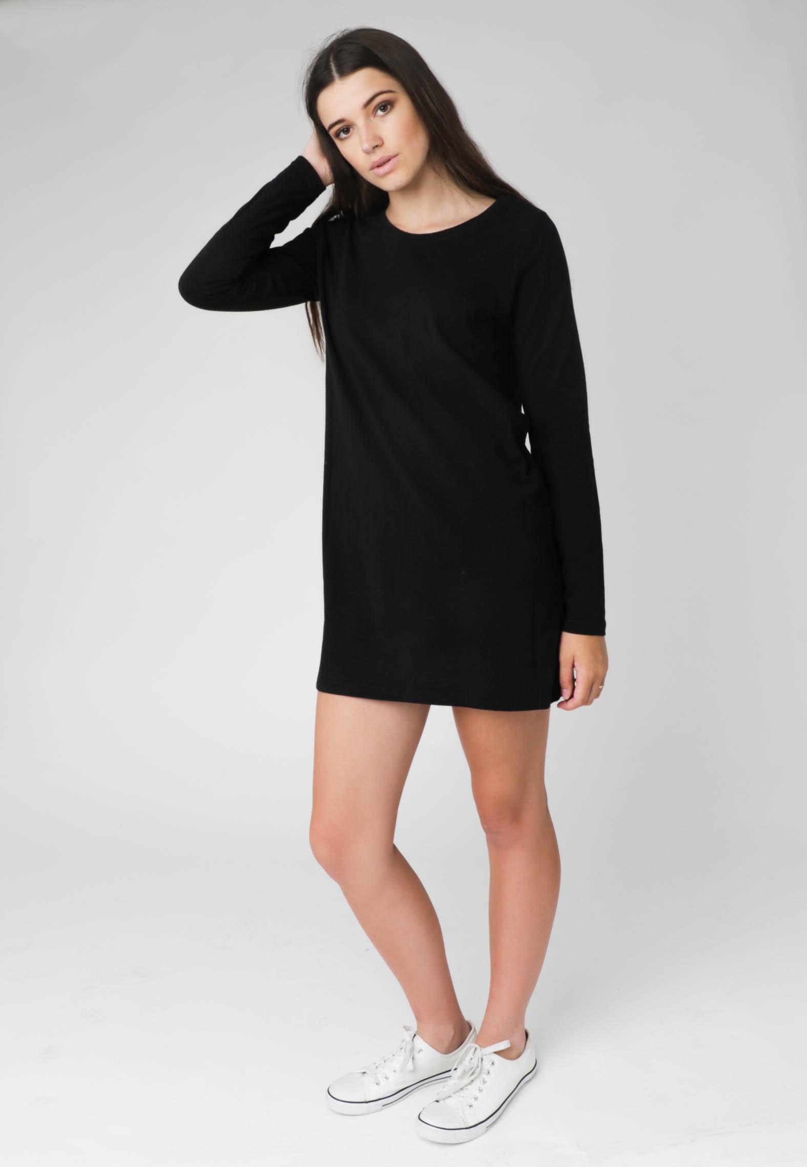 Silent Theory - Got Back L/S Dress - Black