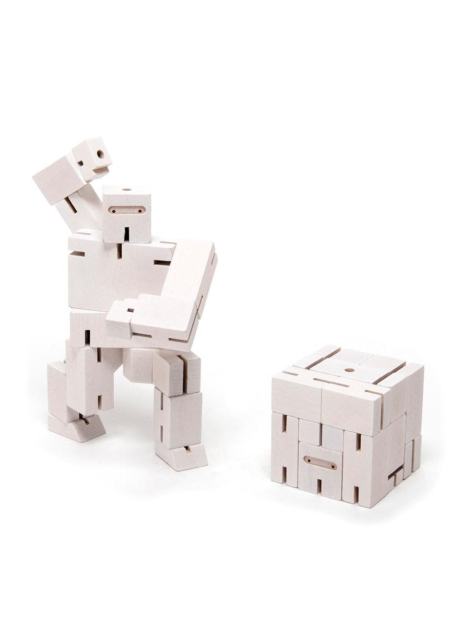 Areaware - Cubebot Small Ninja - White
