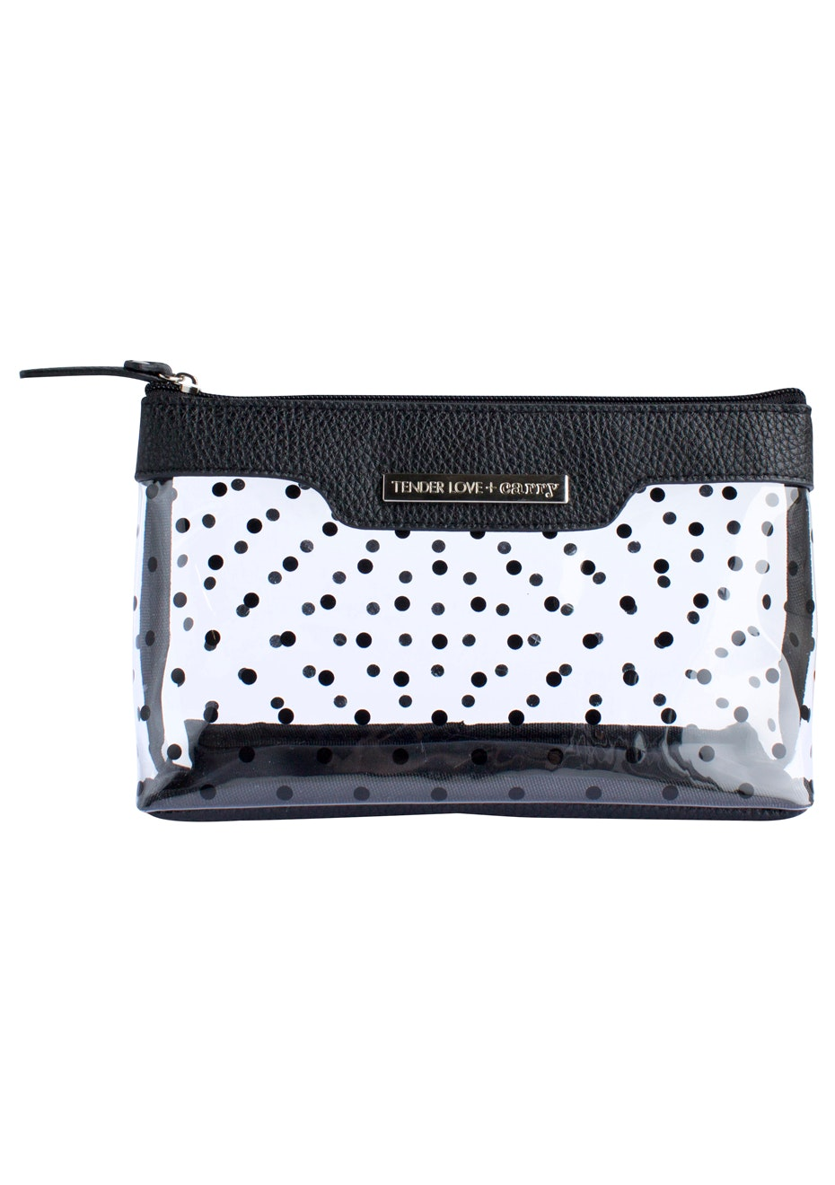 TL+C - Crystal Dot Basic Pouch Black - Black/Clear