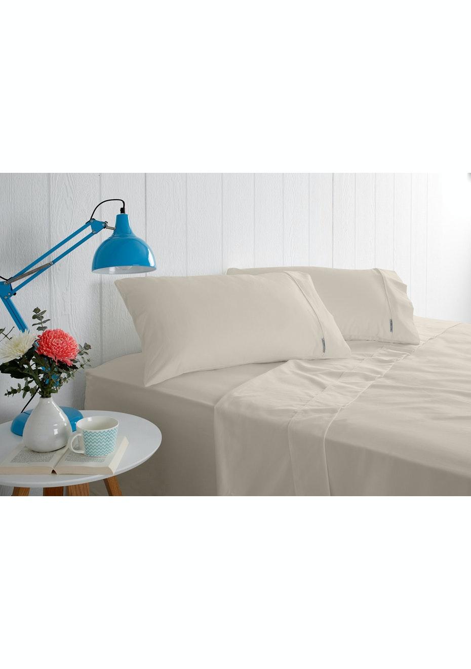 Odyssey Living 1000 Thread Count – Cotton Rich Sheet Sets - Linen - Queen Bed