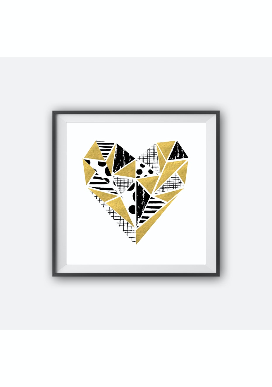 Simply Creative - Heart - Gold Foil Print