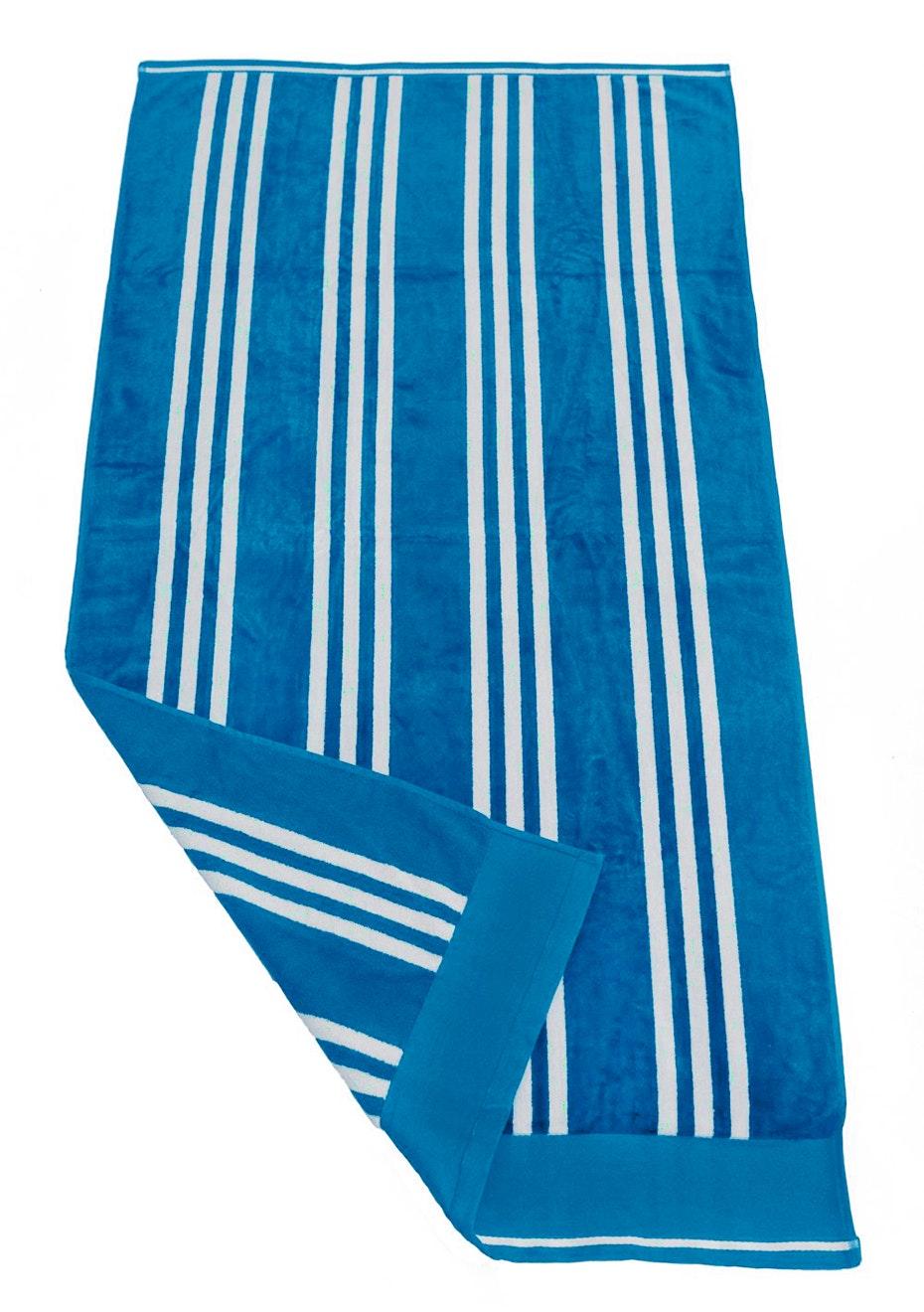 Coral Bay Velour Beach Towel Aqua